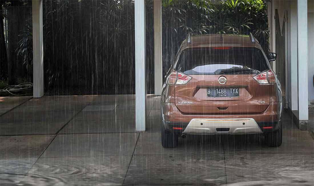 knalpot mobil kemasukan air